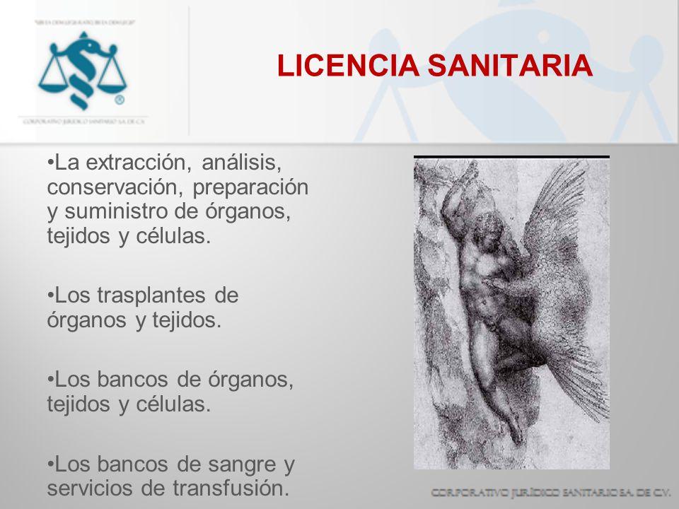 La extracción, análisis, conservación, preparación y suministro de órganos, tejidos y células. Los trasplantes de órganos y tejidos. Los bancos de órg