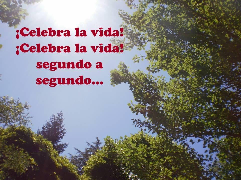 ¡Celebra la vida! ¡Celebra la vida! que nada se guarda, que todo te brinda.