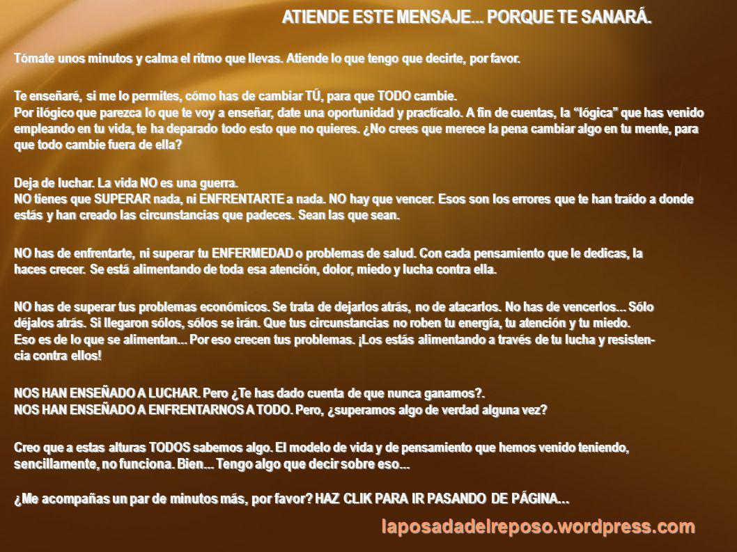 laposadadelreposo.wordpress.com ¿TE HAS PERCATADO ALGUNA VEZ DE QUE SIEMPRE QUE HAY UN PROBLEMA EN TU VIDA...
