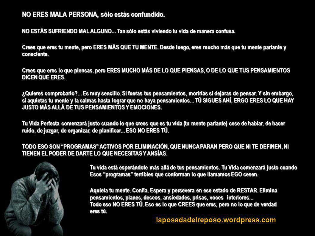 laposadadelreposo.wordpress.com NO ERES MALA PERSONA, sólo estás confundido.