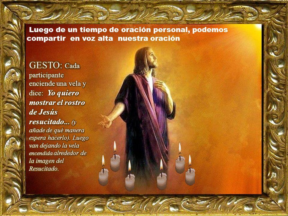 Motivación: La cercanía con Jesús llevó al discípulo amado a ver y creer» Tú eres nuestro Señor resucitado. III. ORATIO ¿Qué le digo al Señor motivado