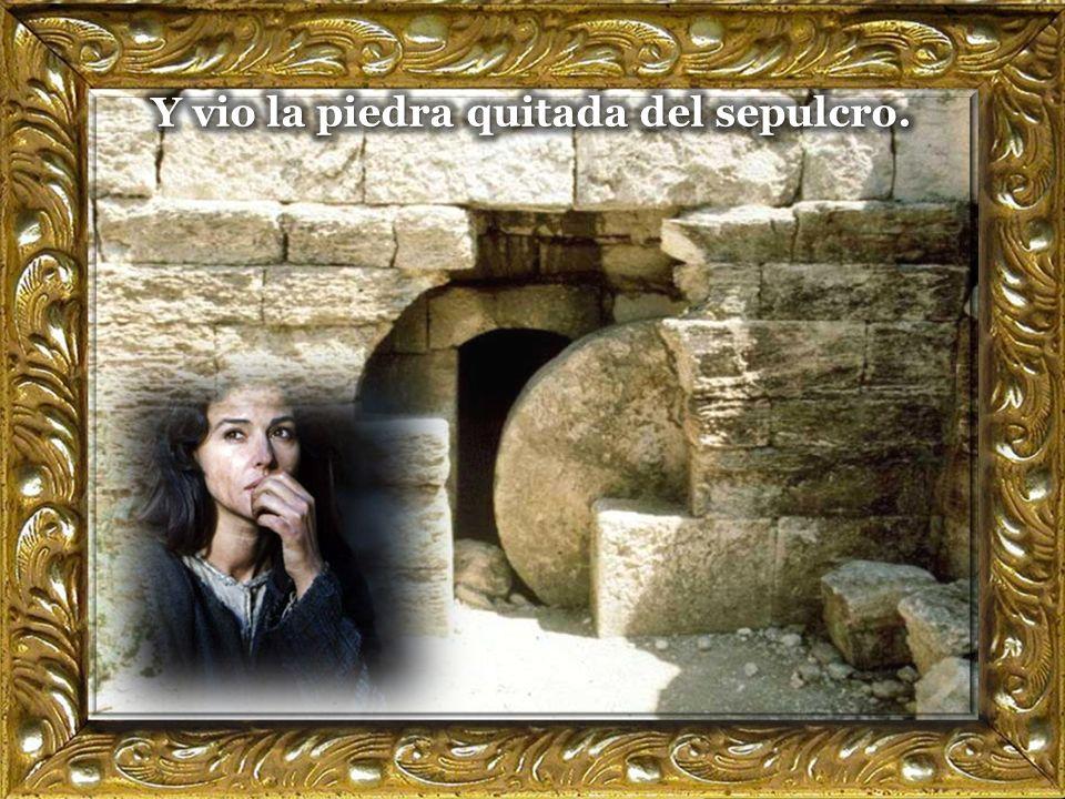 1 El primer día de la semana, María Magdalena fue al sepulcro muy temprano, cuando aún estaba oscuro,