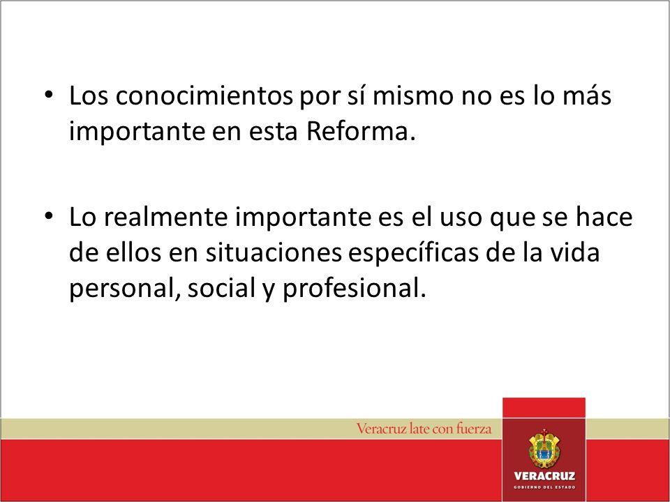 – En lugar de objetivos se especifican competencias a demostrar.