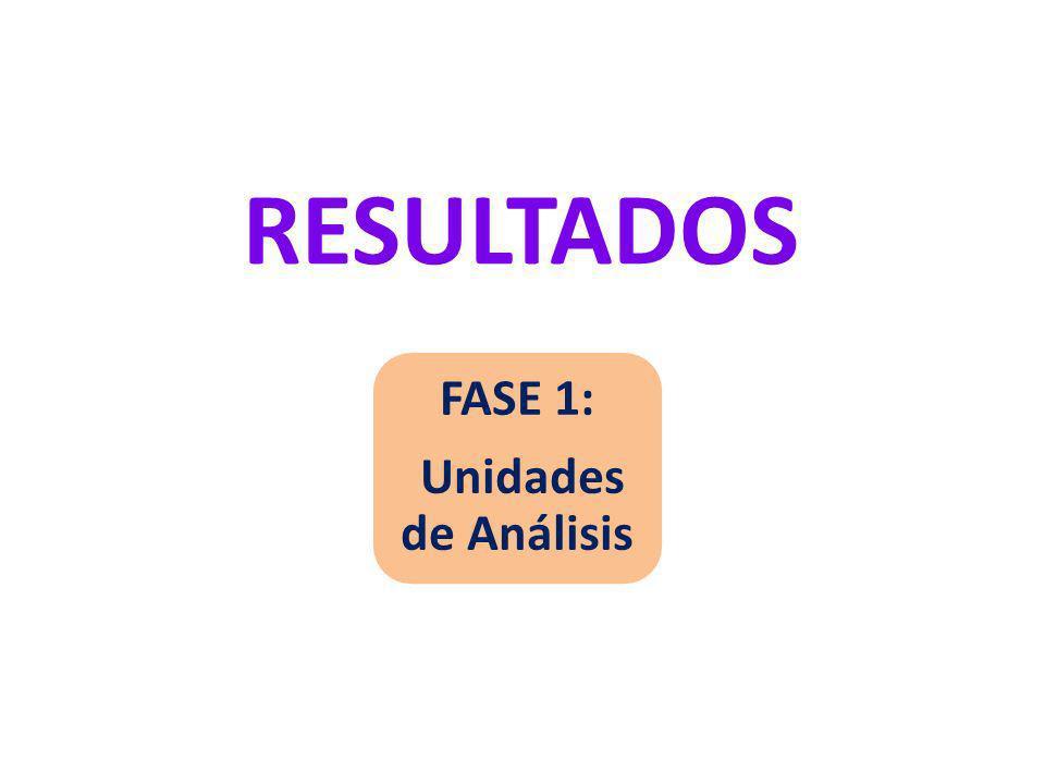 RESULTADOS FASE 1: Unidades de Análisis