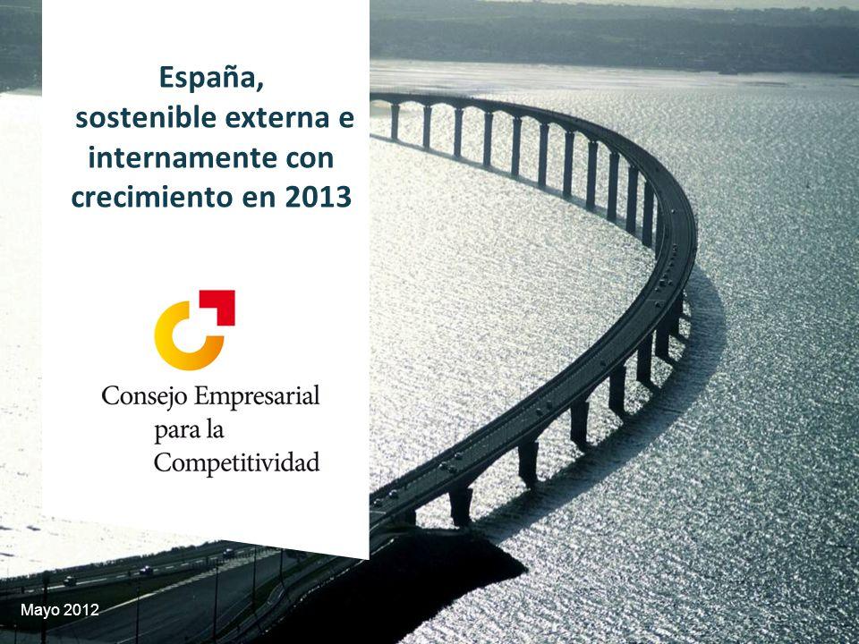 Mayo 2012 España, sostenible externa e internamente con crecimiento en 2013