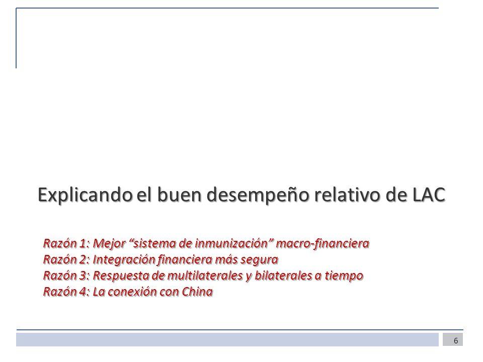Razón 1: Mejor sistema de inmunización macro-financiera Razón 2: Integración financiera más segura Razón 3: Respuesta de multilaterales y bilaterales