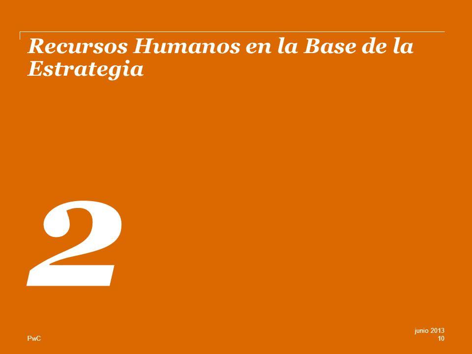PwC Recursos Humanos en la Base de la Estrategia 2 10 junio 2013