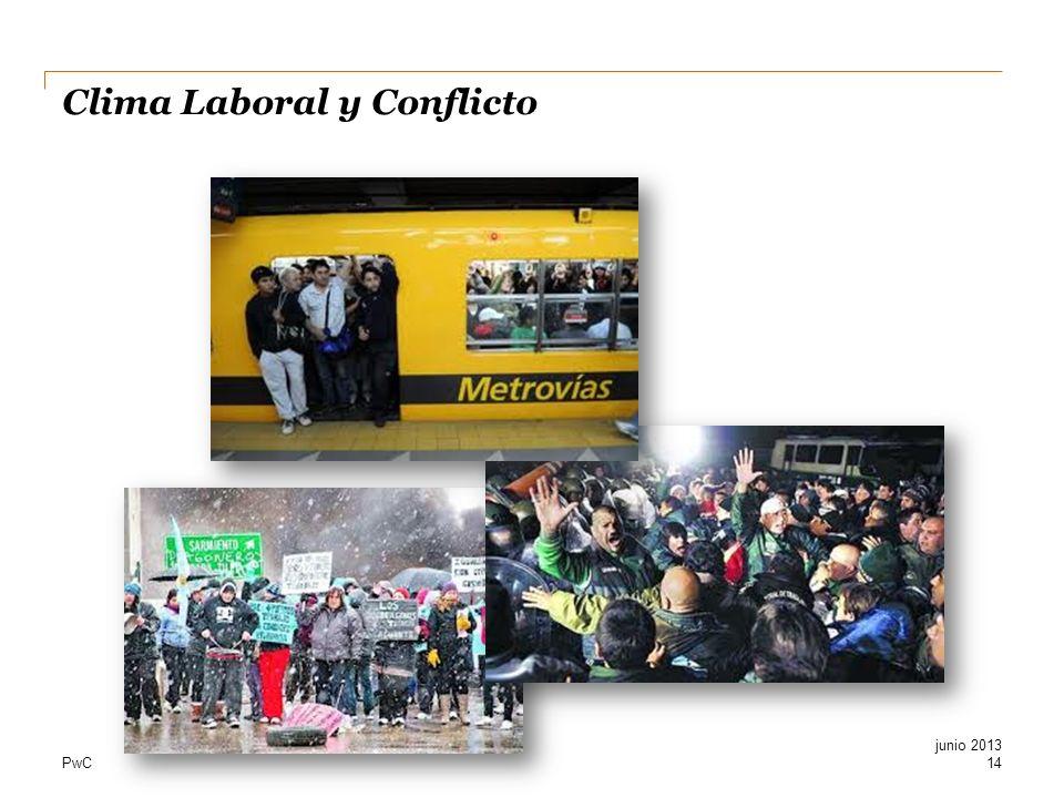 PwC Clima Laboral y Conflicto 14 junio 2013