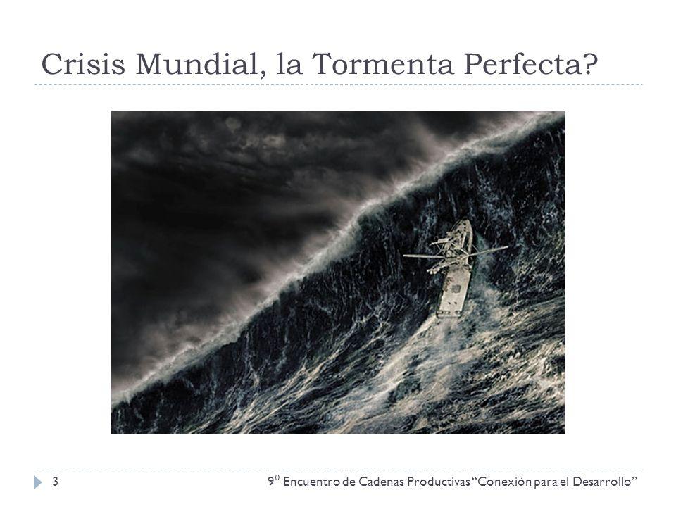 Crisis Mundial, la Tormenta Perfecta? 9 Encuentro de Cadenas Productivas Conexión para el Desarrollo 3