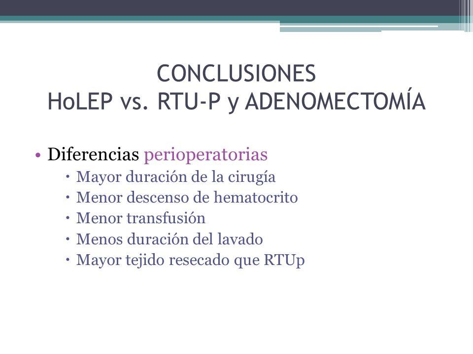 CONCLUSIONES HoLEP vs.
