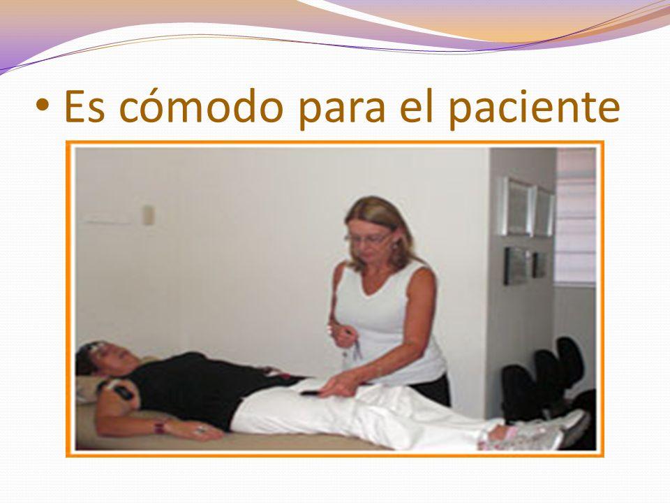 Es cómodo para el paciente