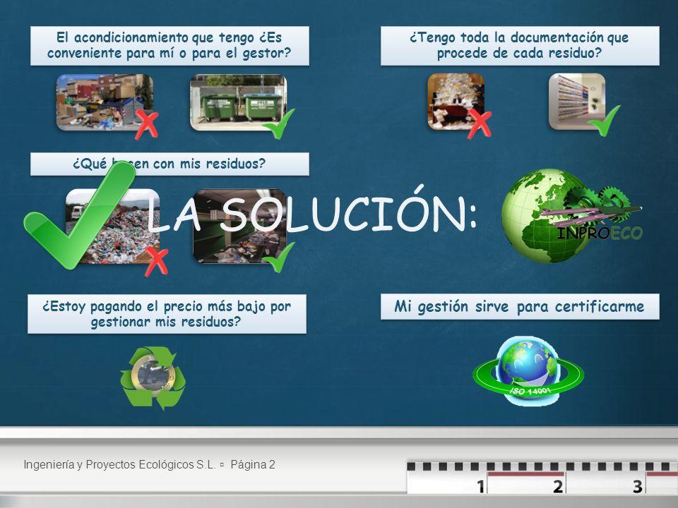 Ingeniería y Proyectos Ecológicos S.L.