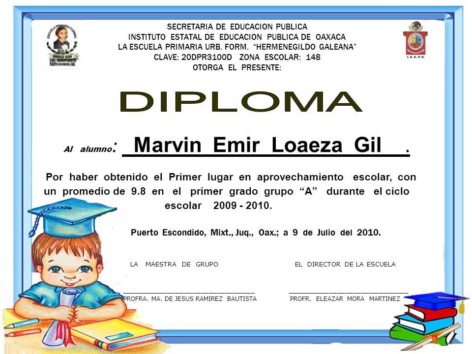SECRETARIA DE EDUCACION PUBLICA INSTITUTO ESTATAL DE EDUCACION PUBLICA DE OAXACA LA ESCUELA PRIMARIA URB. FORM. HERMENEGILDO GALEANA CLAVE: 20DPR3100D