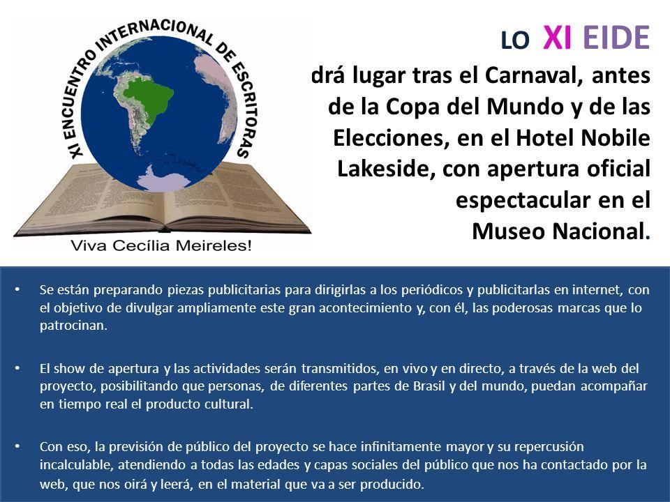 LO XI EIDE Tendrá lugar tras el Carnaval, antes de la Copa del Mundo y de las Elecciones, en el Hotel Nobile Lakeside, con apertura oficial espectacular en el Museo Nacional.