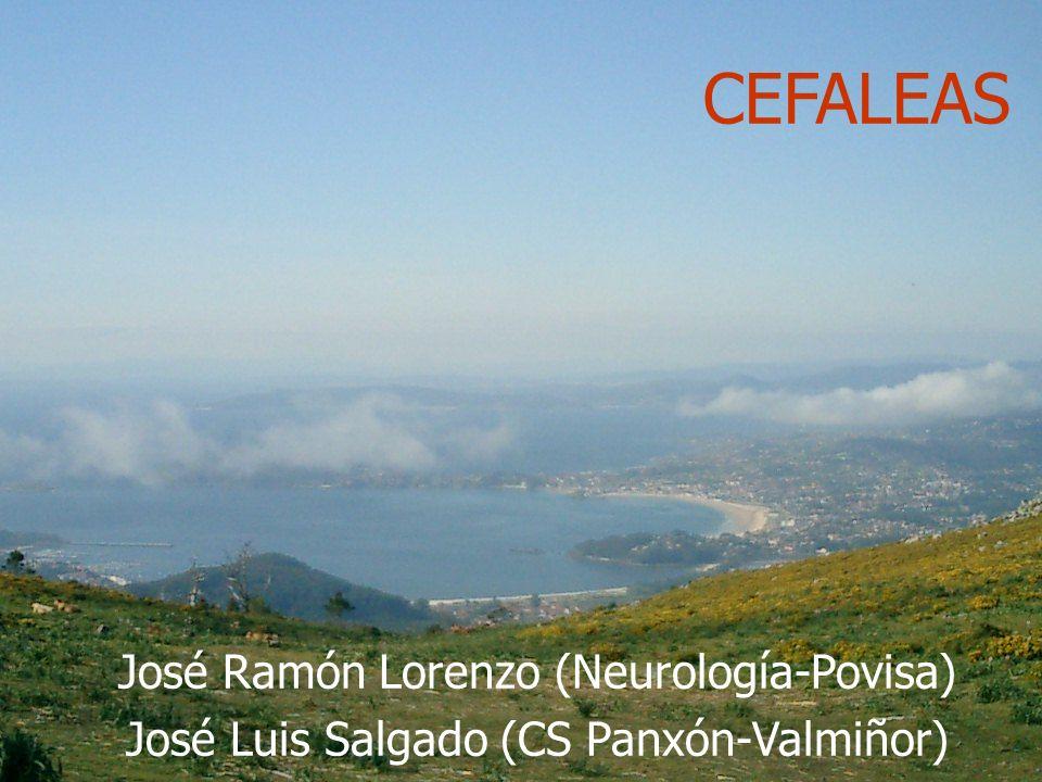 José Ramón Lorenzo (Neurología-Povisa); José Luis Salgado (CS Panxón) CEFALEAS José Ramón Lorenzo (Neurología-Povisa) José Luis Salgado (CS Panxón-Val
