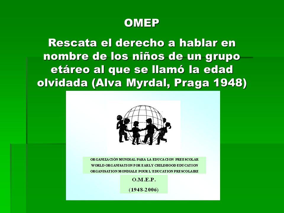 OBJETIVOS DE LA OMEP: *Promover para todos los niños y niñas las condiciones de vida para su bienestar, su crecimiento y su felicidad en el seno de la familia, de las instituciones y de la sociedad.