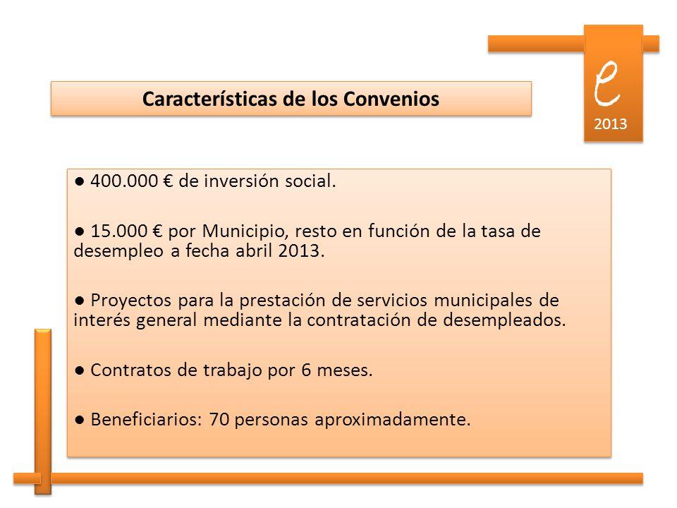 e e 2013 Gestión de las ofertas ante el SCE por los Ayuntamientos.