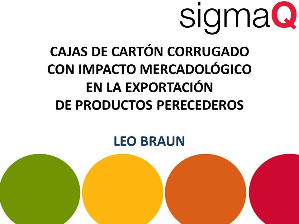 CAJAS DE CARTÓN CORRUGADO CON IMPACTO MERCADOLÓGICO EN LA EXPORTACIÓN DE PRODUCTOS PERECEDEROS LEO BRAUN