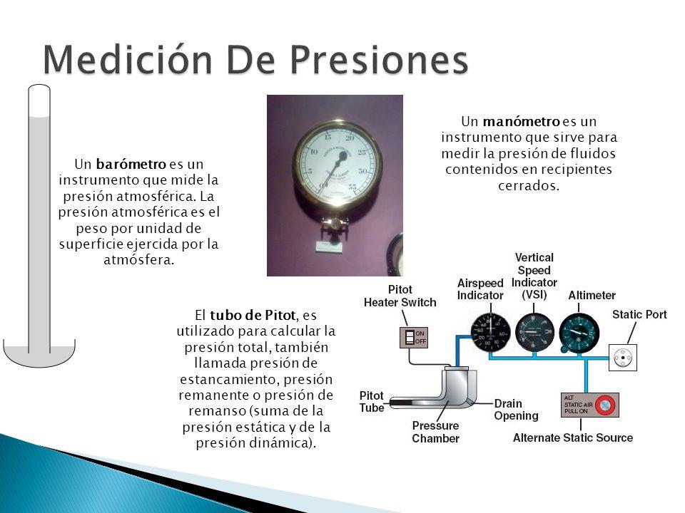 Un manómetro es un instrumento que sirve para medir la presión de fluidos contenidos en recipientes cerrados. Un barómetro es un instrumento que mide