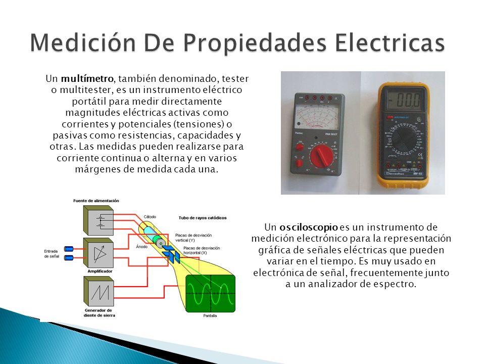 Un osciloscopio es un instrumento de medición electrónico para la representación gráfica de señales eléctricas que pueden variar en el tiempo. Es muy