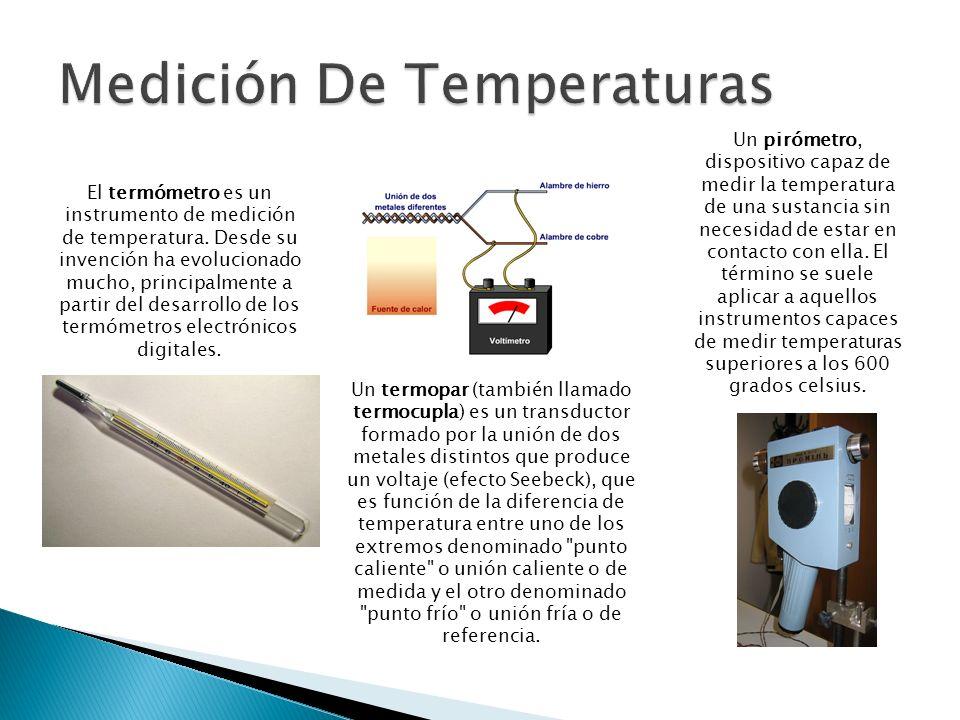 Un termopar (también llamado termocupla) es un transductor formado por la unión de dos metales distintos que produce un voltaje (efecto Seebeck), que