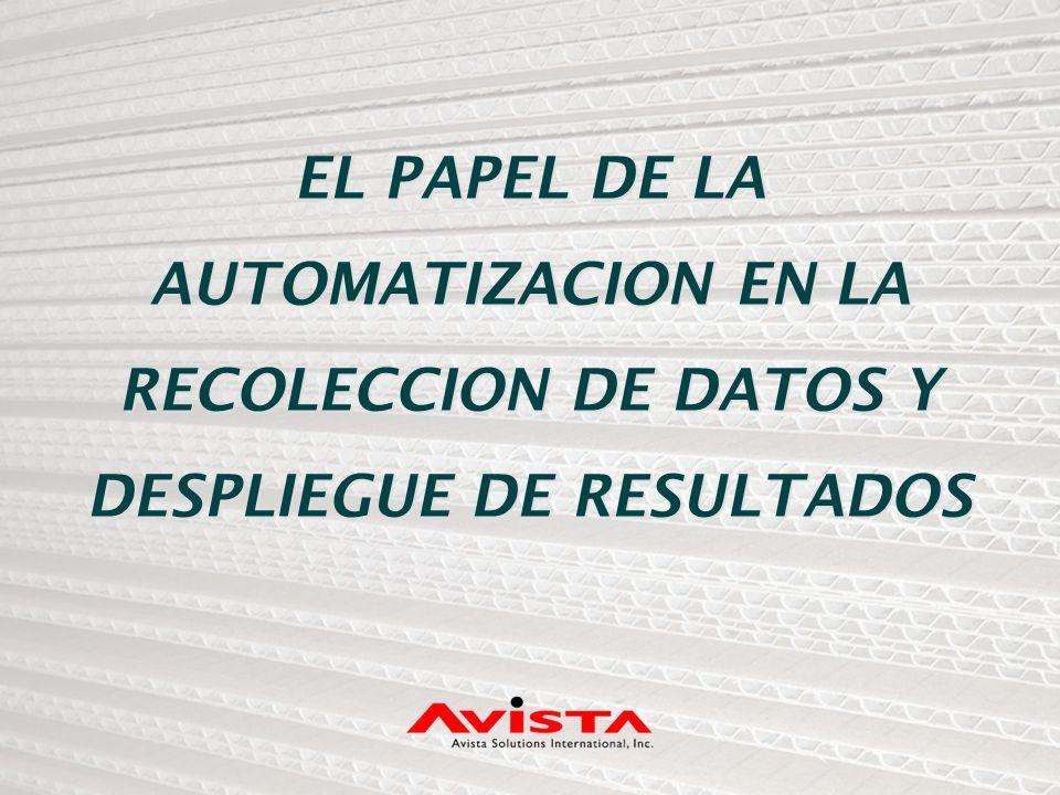 EL PAPEL DE LA AUTOMATIZACION EN LA RECOLECCION DE DATOS Y DESPLIEGUE DE RESULTADOS