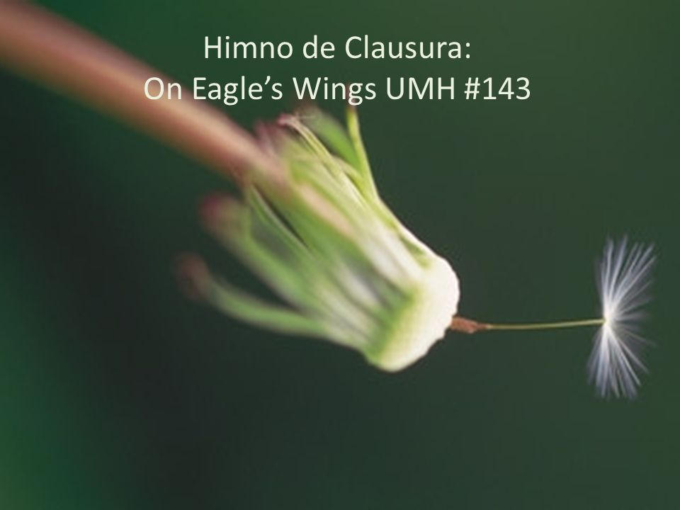 Himno de Clausura: On Eagles Wings UMH #143