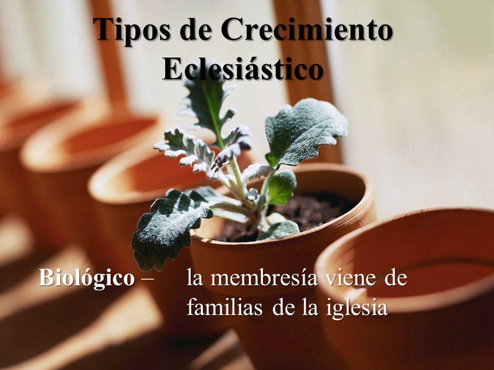 Tipos de Crecimiento Eclesiástico Biológico – la membresía viene de familias de la iglesia