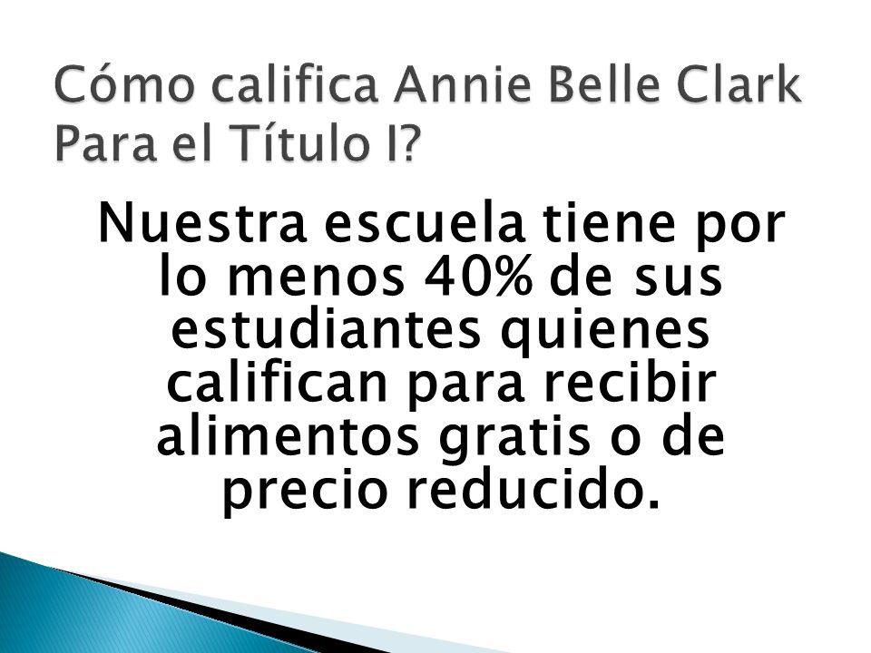 El equipo de planeación de Annie Belle Clark consiste de la administración, maestros, padres y socios de la comunidad.
