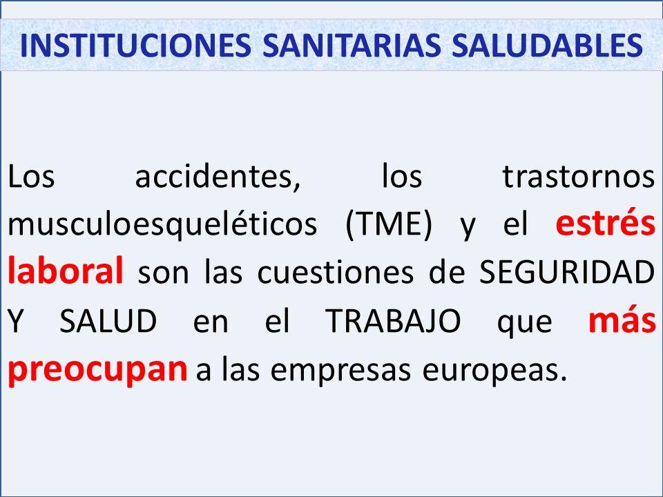 INSTITUCIONES SANITARIAS SALUDABLES En España es necesario prevenir y controlar estos riesgos dentro de las INSTITUCIONES SANITARIAS.
