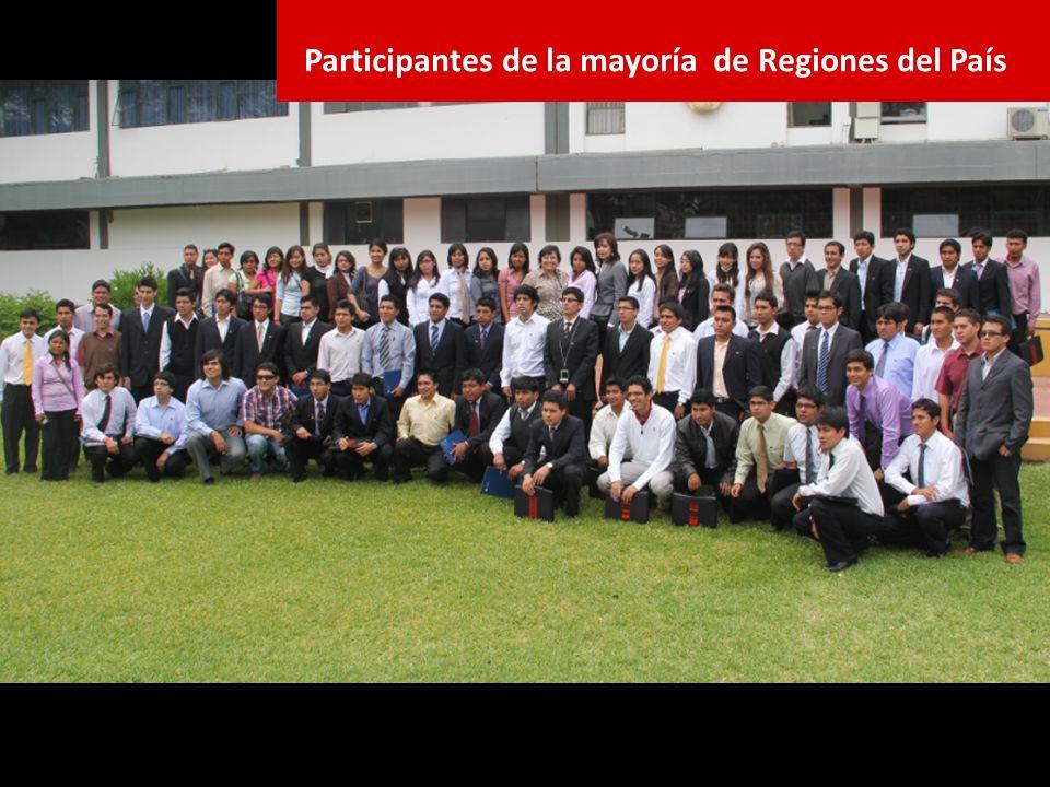 Participantes de la mayoría de Regiones del País