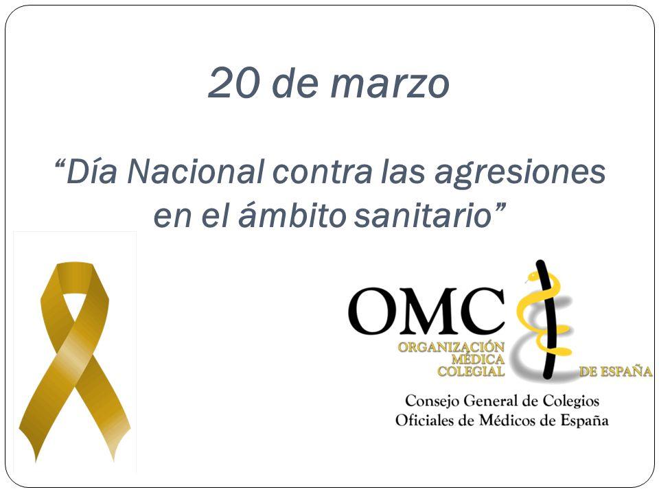 20 de marzo Día Nacional contra las agresiones en el ámbito sanitario