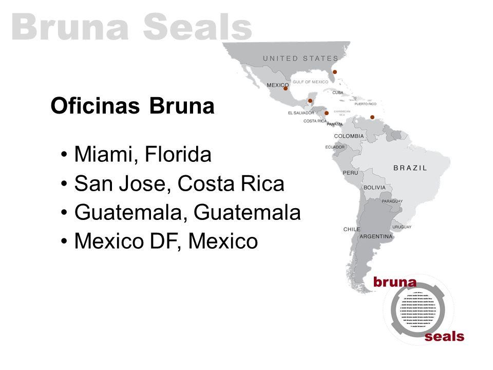 Oficinas Bruna Miami, Florida San Jose, Costa Rica Guatemala, Guatemala Mexico DF, Mexico Bruna Seals