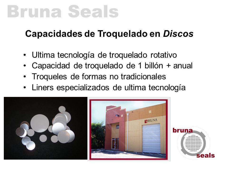 Capacidades de Troquelado en Discos Ultima tecnología de troquelado rotativo Capacidad de troquelado de 1 billón + anual Troqueles de formas no tradic