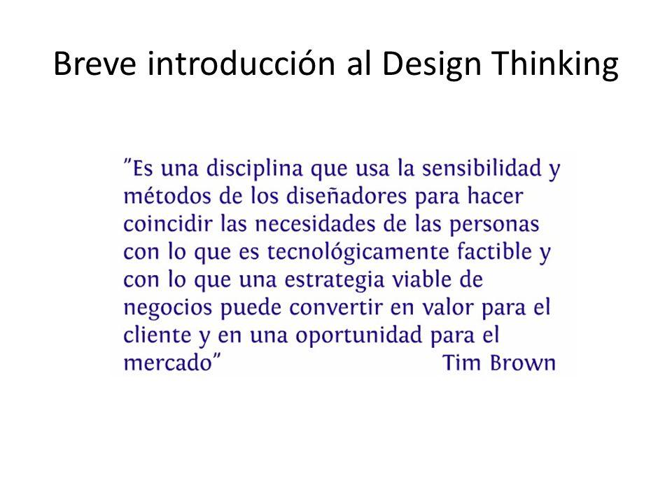 Breve introducción al Design Thinking