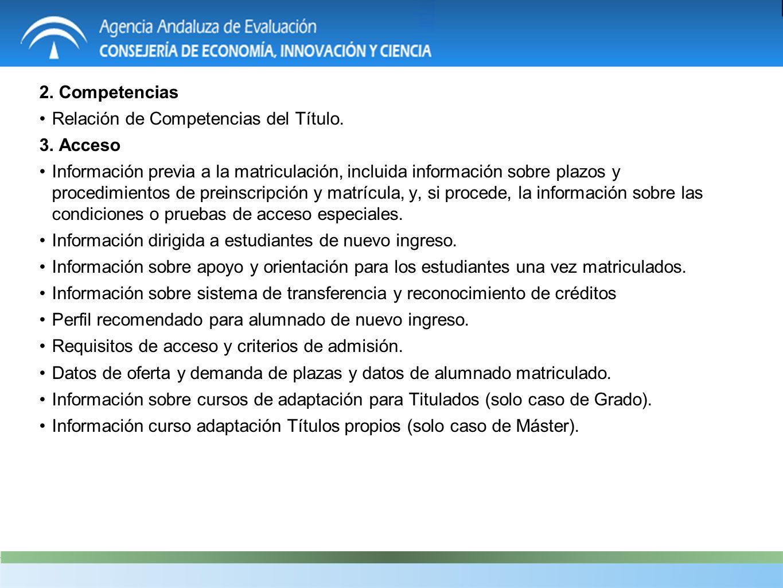 2. Competencias Relación de Competencias del Título.