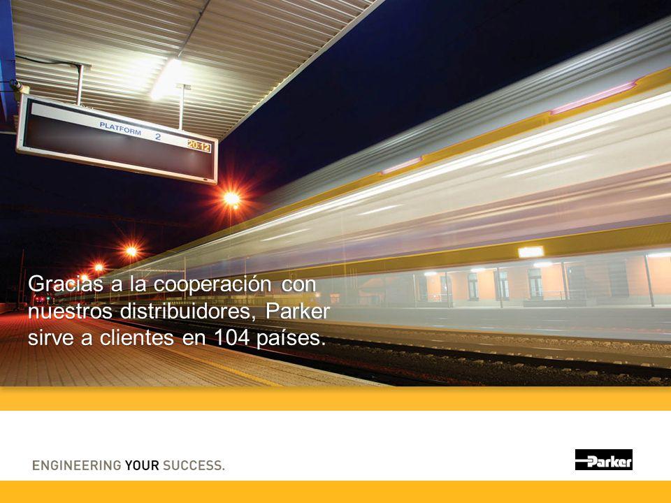 Gracias a la cooperación con nuestros distribuidores, Parker sirve a clientes en 104 países.