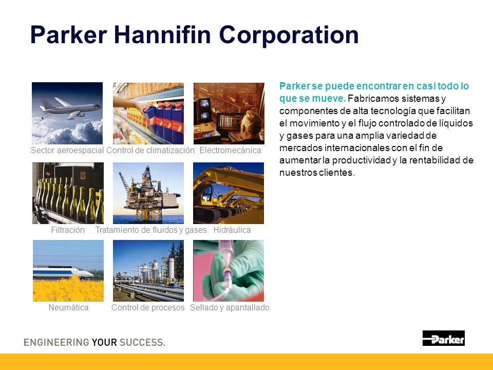 Parker Hannifin Corporation Parker se puede encontrar en casi todo lo que se mueve. Fabricamos sistemas y componentes de alta tecnología que facilitan