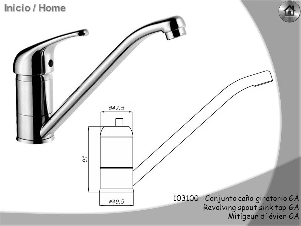 103100 Conjunto caño giratorio GA Revolving spout sink tap GA Mitigeur d´évier GA