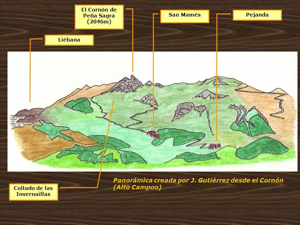 Panorámica creada por J. Gutiérrez desde el Cornón (Alto Campoo) El Cornón de Peña Sagra (2046m) Liébana San MamésPejanda Collado de las Invernaillas