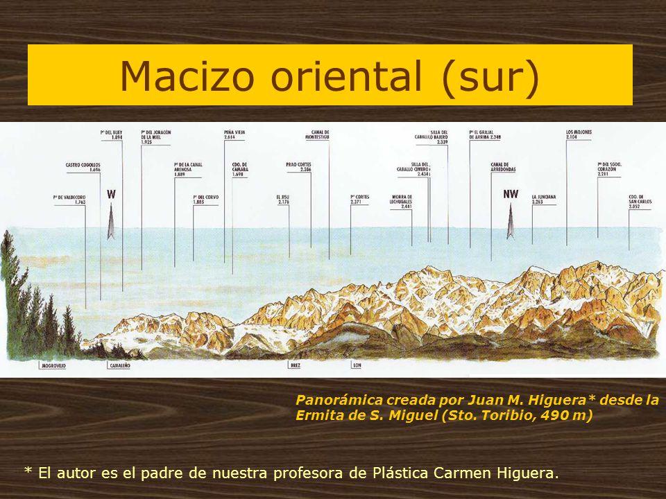 Macizo oriental (sur) Panorámica creada por Juan M. Higuera* desde la Ermita de S. Miguel (Sto. Toribio, 490 m) * El autor es el padre de nuestra prof