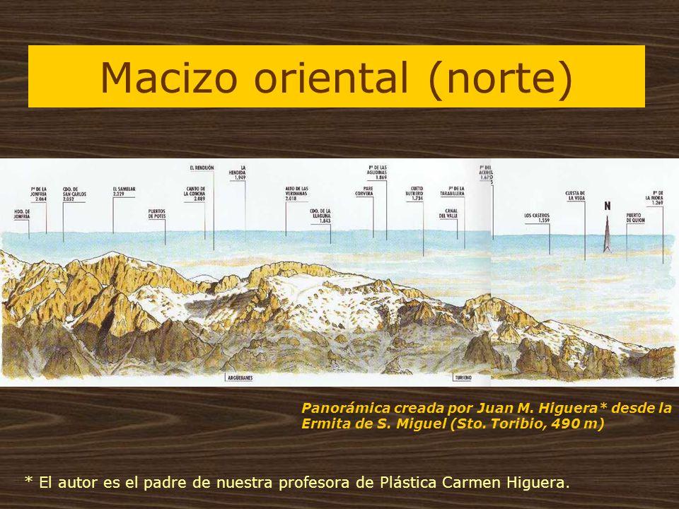 Macizo oriental (norte) Panorámica creada por Juan M. Higuera* desde la Ermita de S. Miguel (Sto. Toribio, 490 m) * El autor es el padre de nuestra pr