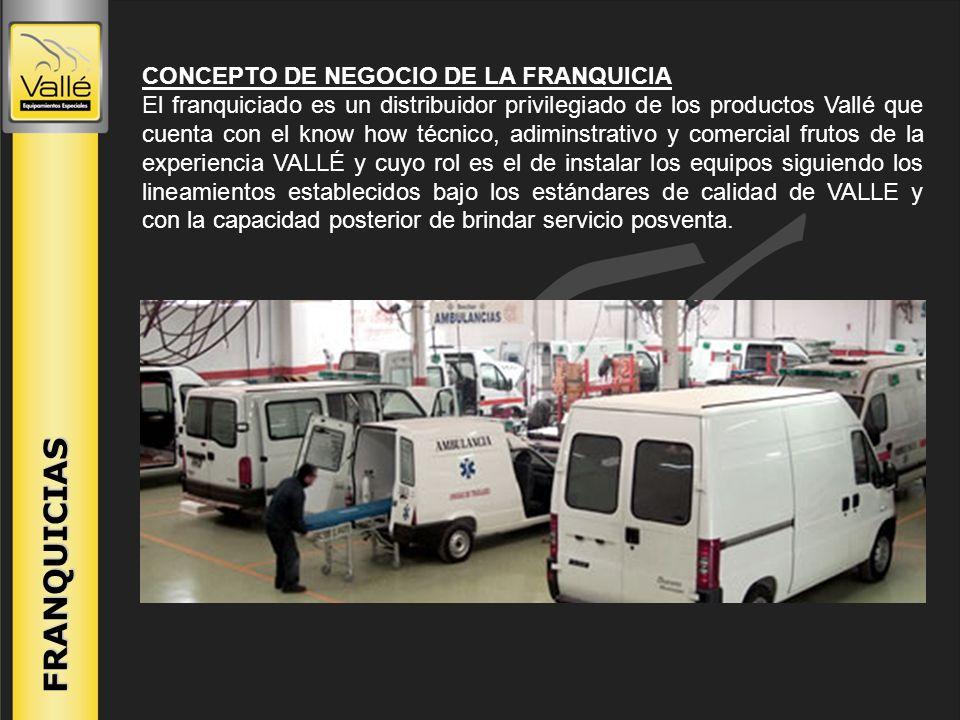 CONCEPTO DE NEGOCIO DE LA FRANQUICIA El franquiciado es un distribuidor privilegiado de los productos Vallé que cuenta con el know how técnico, adimin