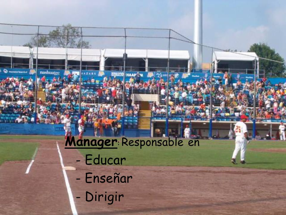 Manager : Responsable en - Educar - Enseñar - Dirigir
