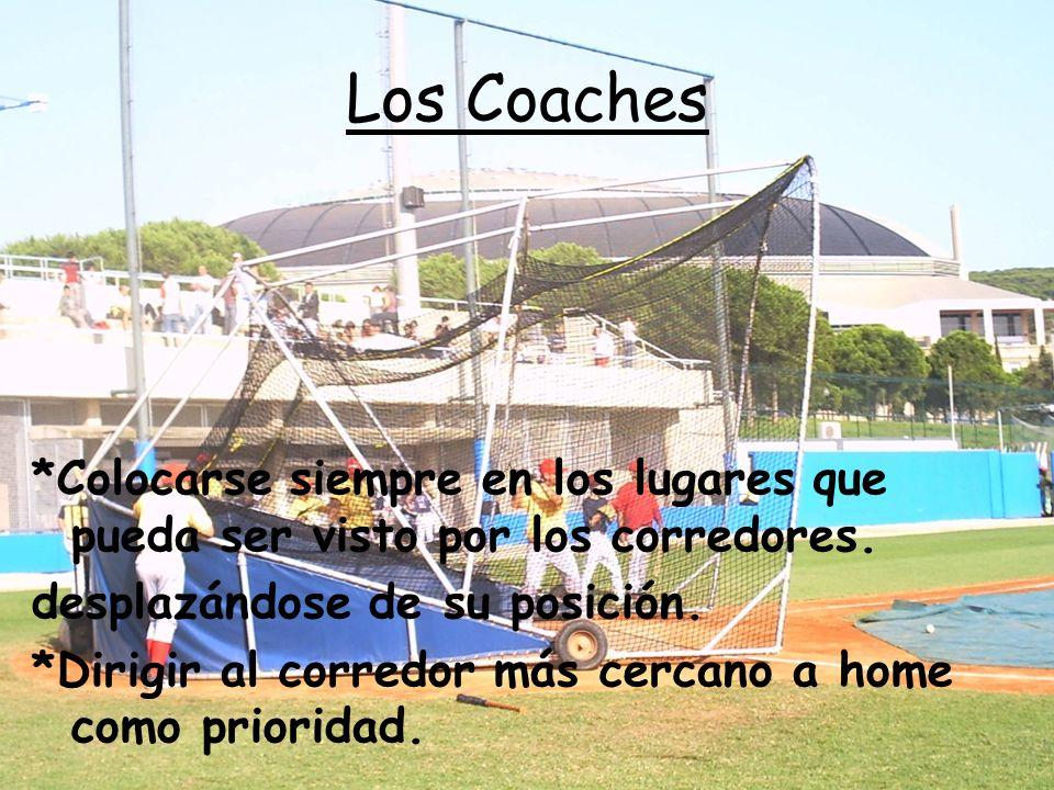 Los Coaches *Colocarse siempre en los lugares que pueda ser visto por los corredores.