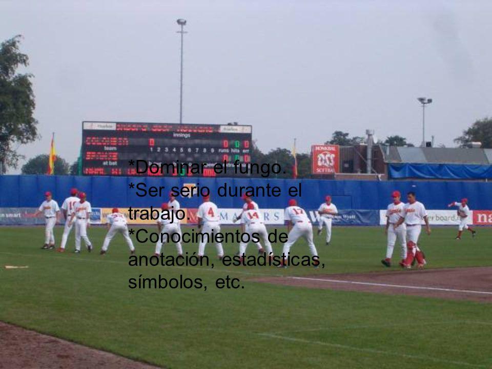 Los Coaches *Observar los brazos de los oufielders del equipo contrario. *Dirigir a los corredores.