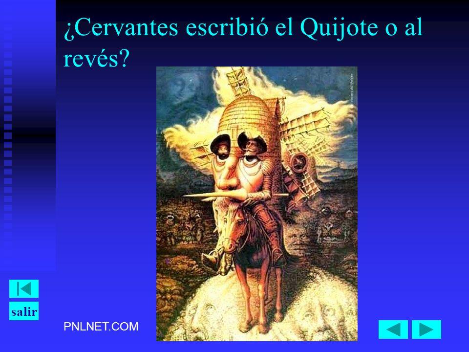 PNLNET.COM salir ¿Cervantes escribió el Quijote o al revés?
