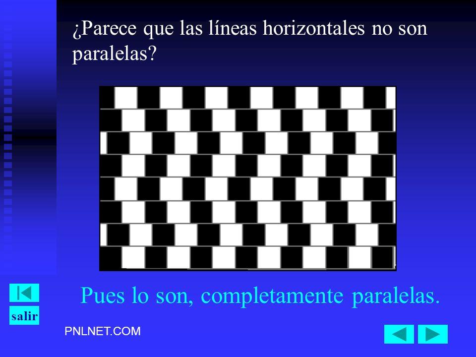 PNLNET.COM salir ¿Parece que las líneas horizontales no son paralelas? Pues lo son, completamente paralelas.