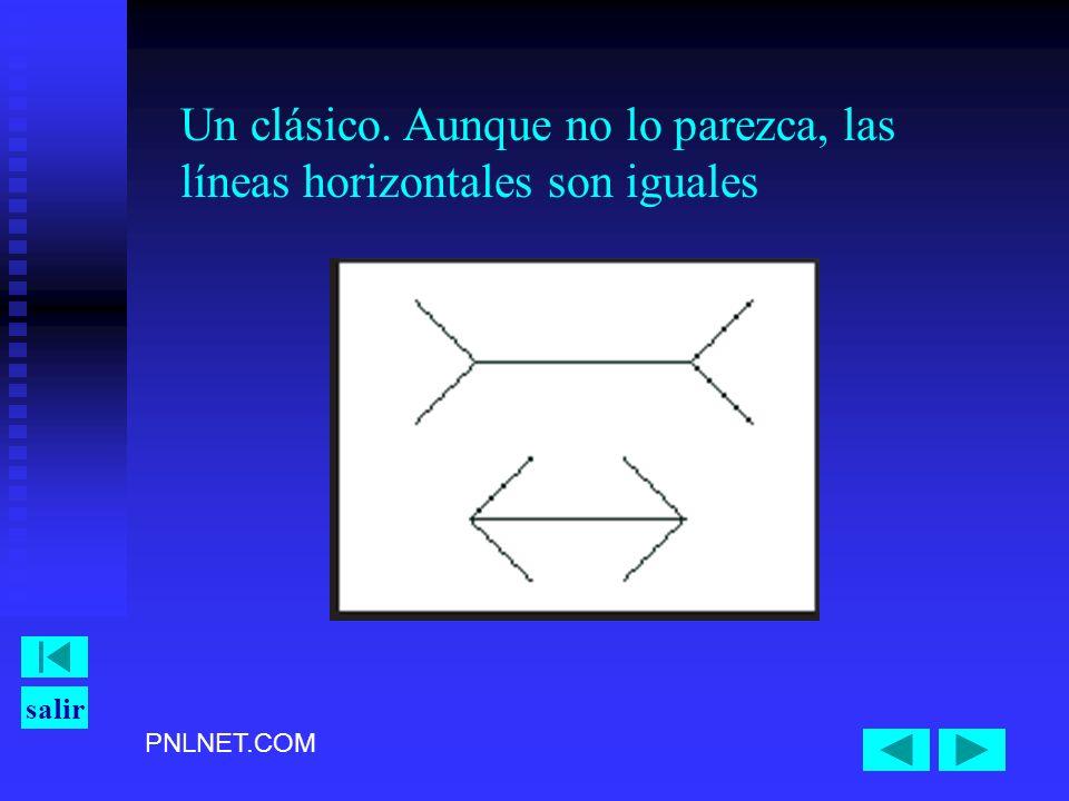 PNLNET.COM salir Un clásico. Aunque no lo parezca, las líneas horizontales son iguales