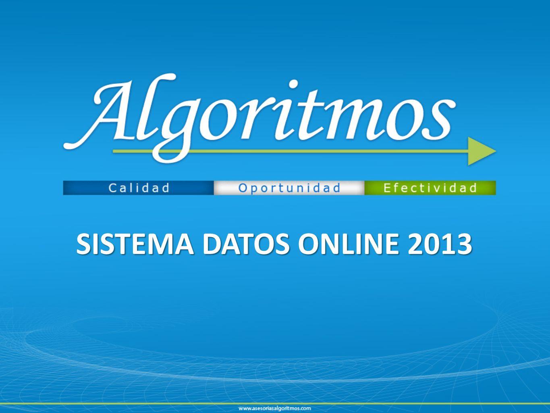 SISTEMA DATOS ONLINE 2013